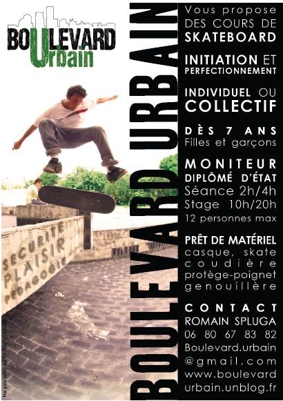 Flyer cours sk8